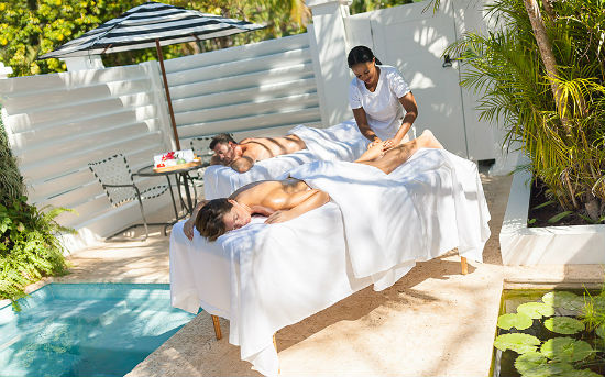 Spa Villas Outside Massage